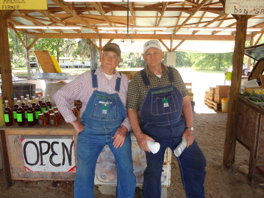 The Caldwell Brothers at their Farmstand
