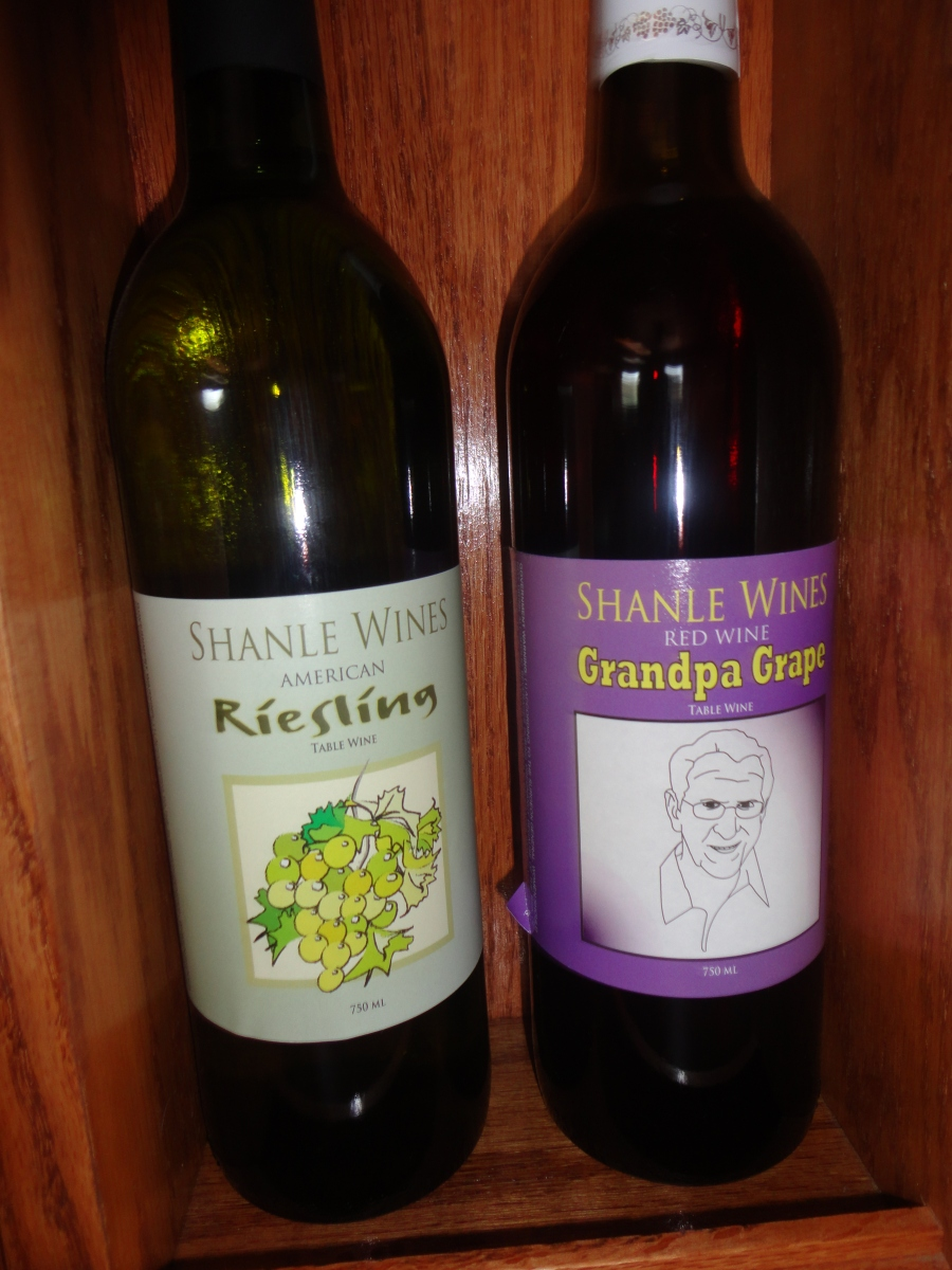 Wines offered by the Walnut Street Winery