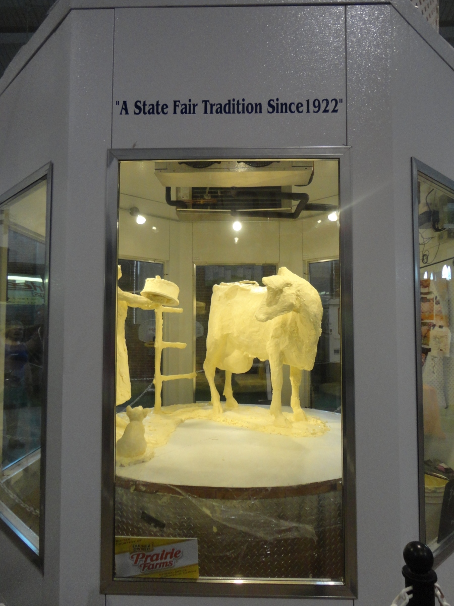 Butter Cow at the Illinois State Fair