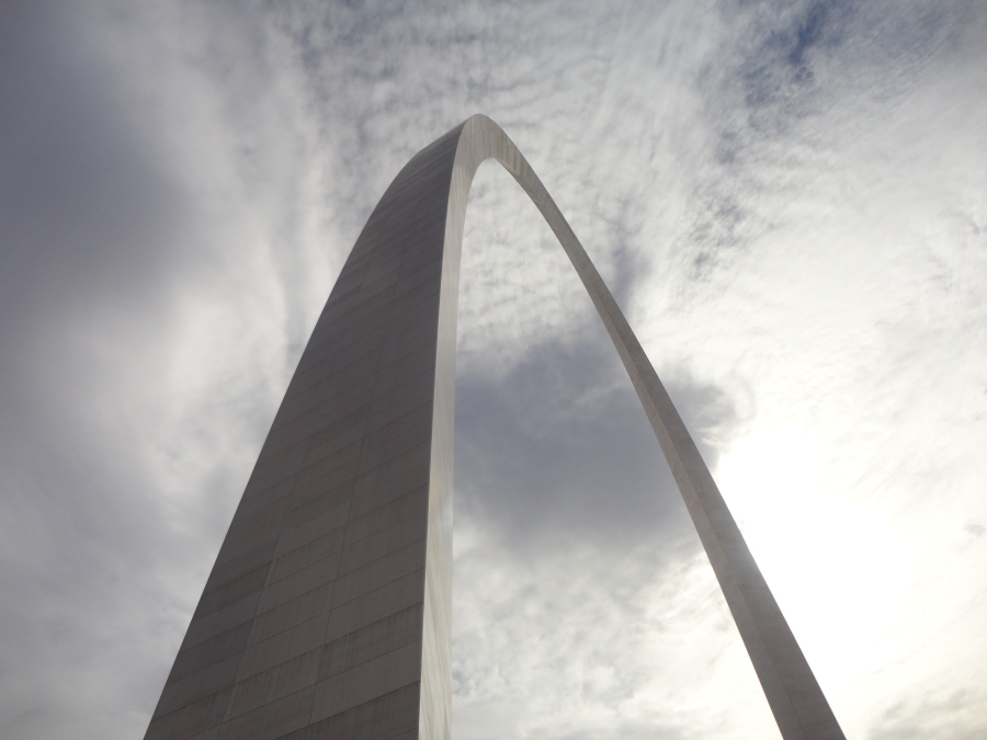 The St. Louis Arch, way up high!