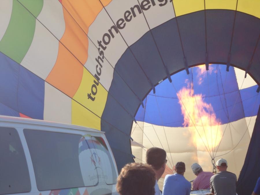 The heart of a hot air balloon