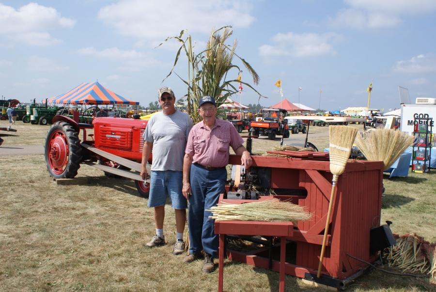 The art of threshing broom corn