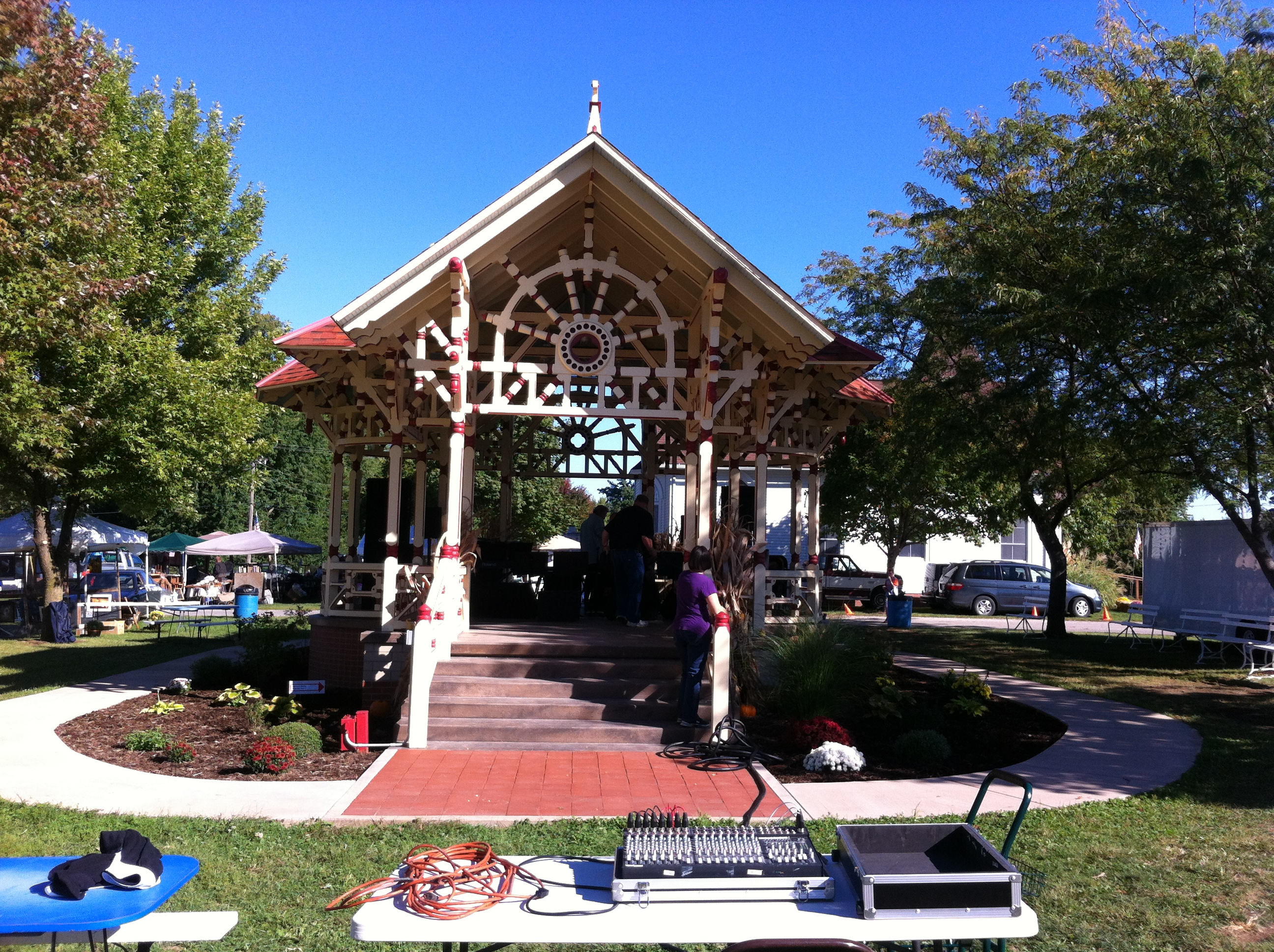 Band Stand at Praire Land Heritage Museum