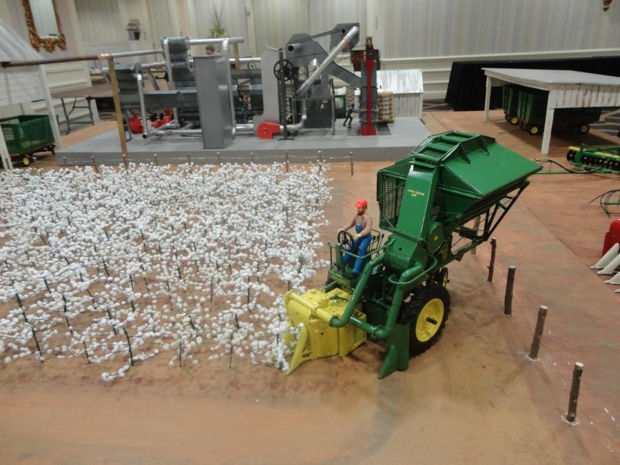 Pickin cotton at the St. Louis Gateway Farm Toy Show
